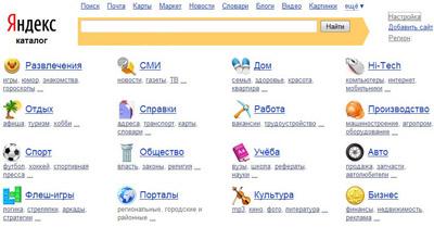 Каталог Яндекса - каталог сайтов рунета (онлайн)